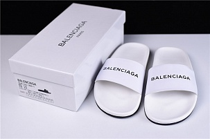 Шлепки Balenciaga Slippers White
