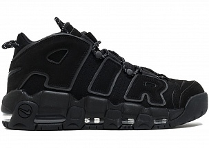 Кроссовки Nike Air More Uptempo Full Black Reflective