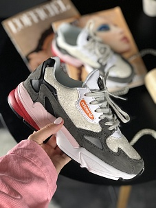 Кроссовки Adidas Falcon White Grey Black Pink