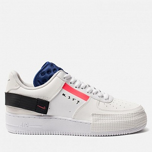 Кроссовки Nike Air Force 1  White Red Orbit Black