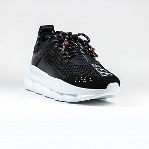 Кроссовки Versace Chain Reaction Black White