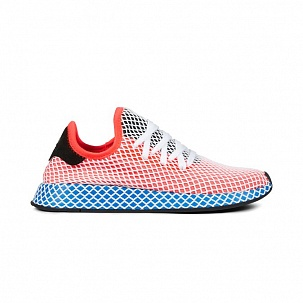 Кроссовки Adidas Deerupt Runner (Solar Red / Solar Red / Blue Bird)