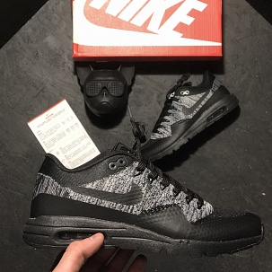 Кроссовки Nike Air Max 87 Flyknit Black Grey