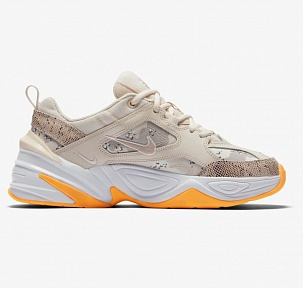 Кроссовки Nike M2k Tekno Beige White Orange Snakeskin