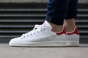 Кроссовки Adidas Stan Smith white red